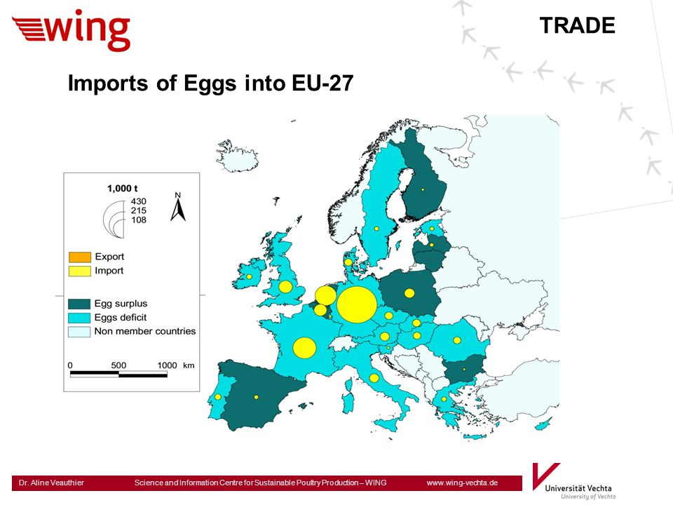 Dr. Aline Veauthier Science and Information Centre for Sustainable Poultry Production – WING www.wing-vechta.de Imports of Eggs into EU-27 TRADE