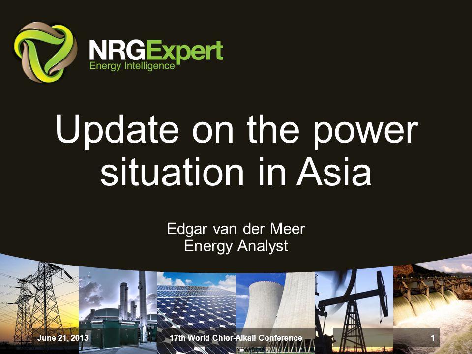 Receive a Free Report June 21, 201317th World Chlor-Alkali Conference22 http://www.nrgexpert.com/chlor-alkali-conference-delegate-report/