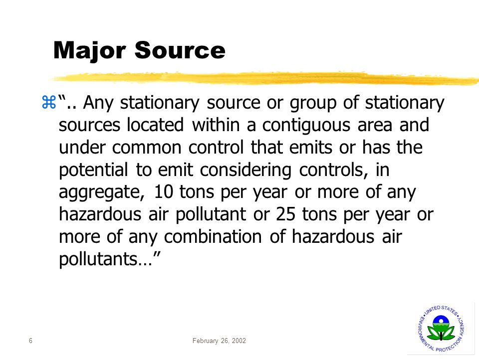 February 26, 20026 Major Source z..