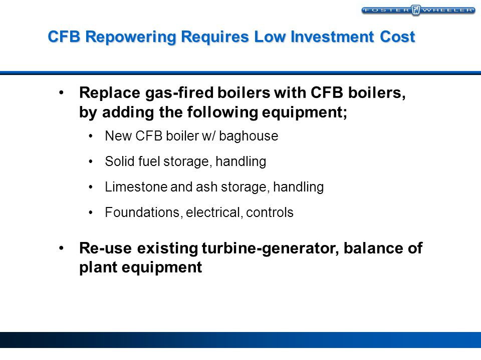 Foster Wheeler CFB: Improved Performance With Less Equipment