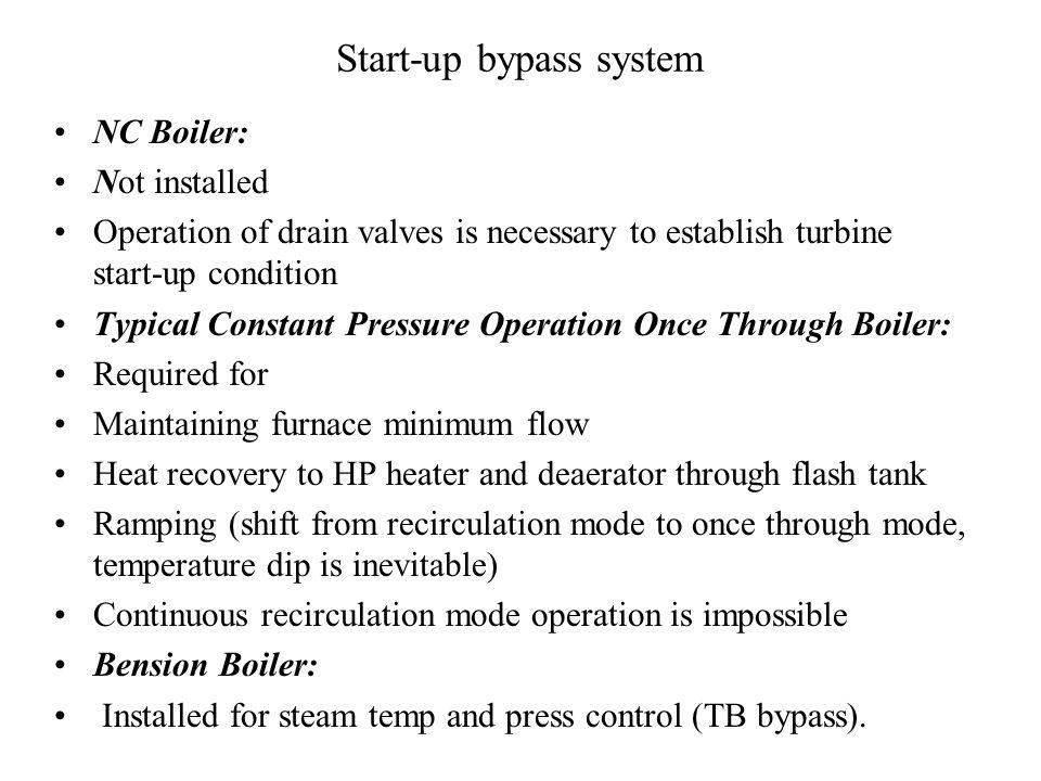 Boiler start-up systems