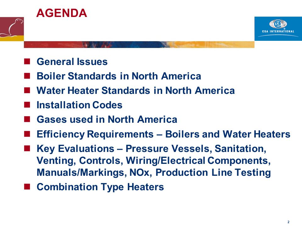 43 Controls – Special Considerations Designs complying with EN 298 that have been evaluated by a CSA Partner, must be evaluated as follows for compliance with the North America standards.