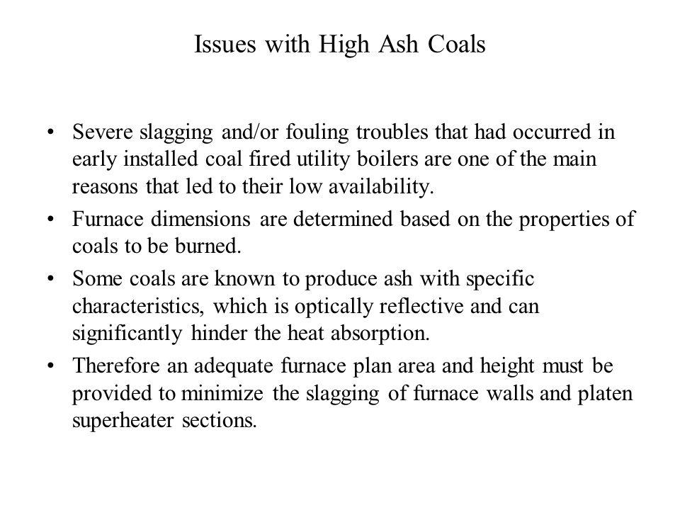 Furnace Design Vs Ash Content Ash Content