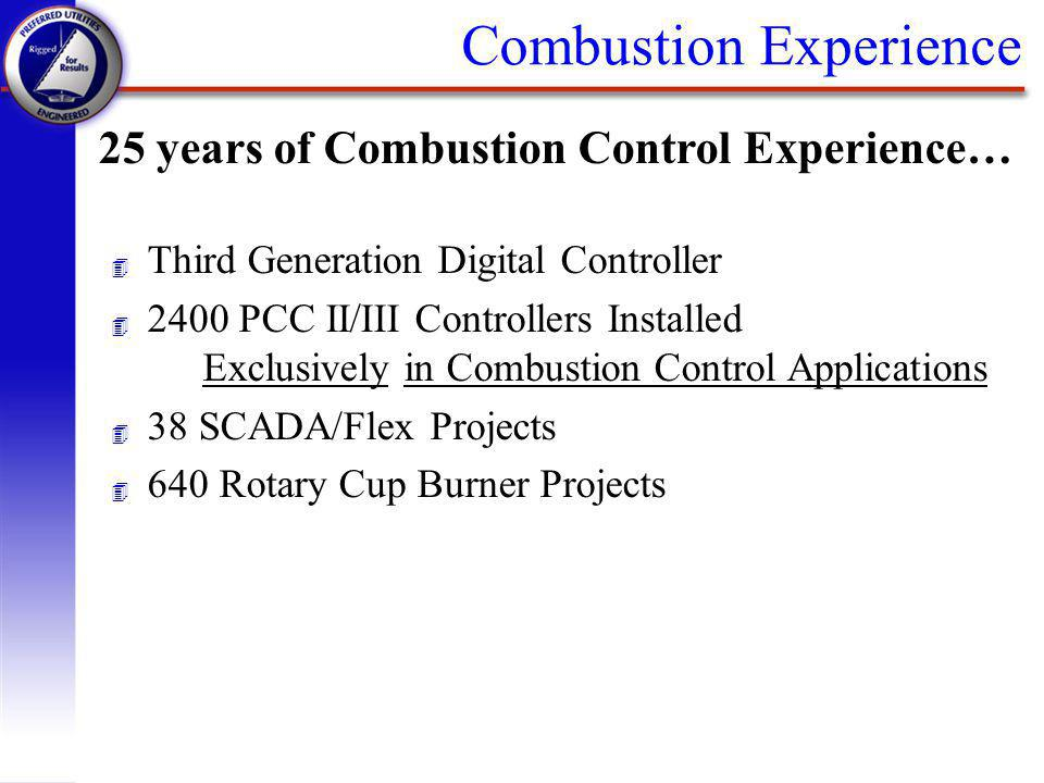 Combustion Experience 25 years of Combustion Control Experience… 4 Third Generation Digital Controller 4 2400 PCC II/III Controllers Installed Exclusi