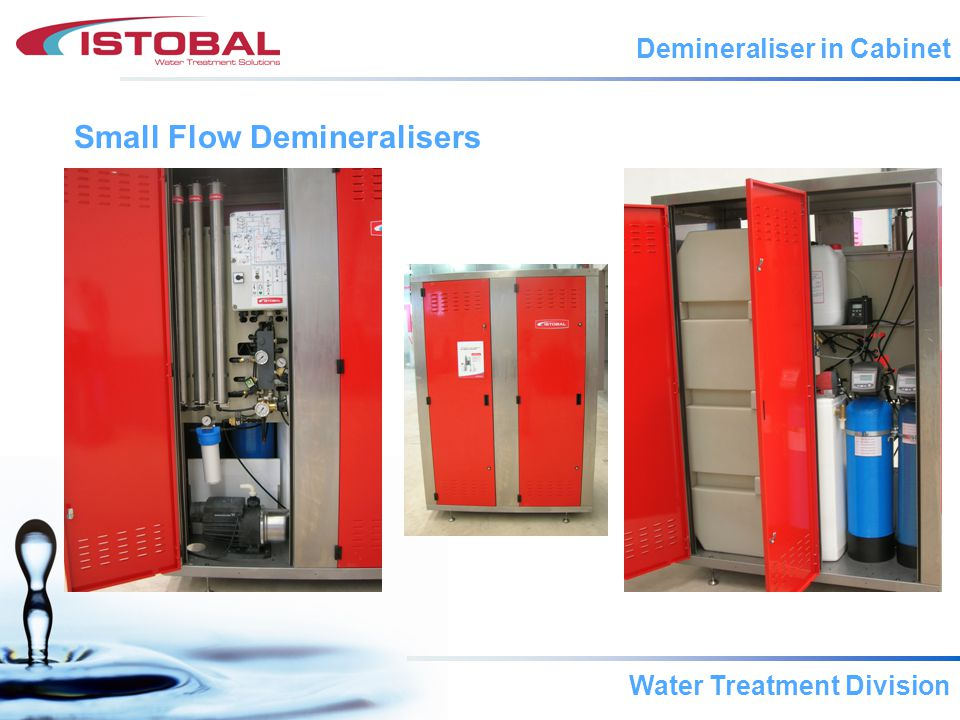 Water Treatment Division Small Flow Demineralisers Demineraliser in Cabinet