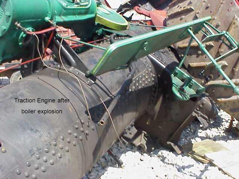 Traction Engine after boiler explosion