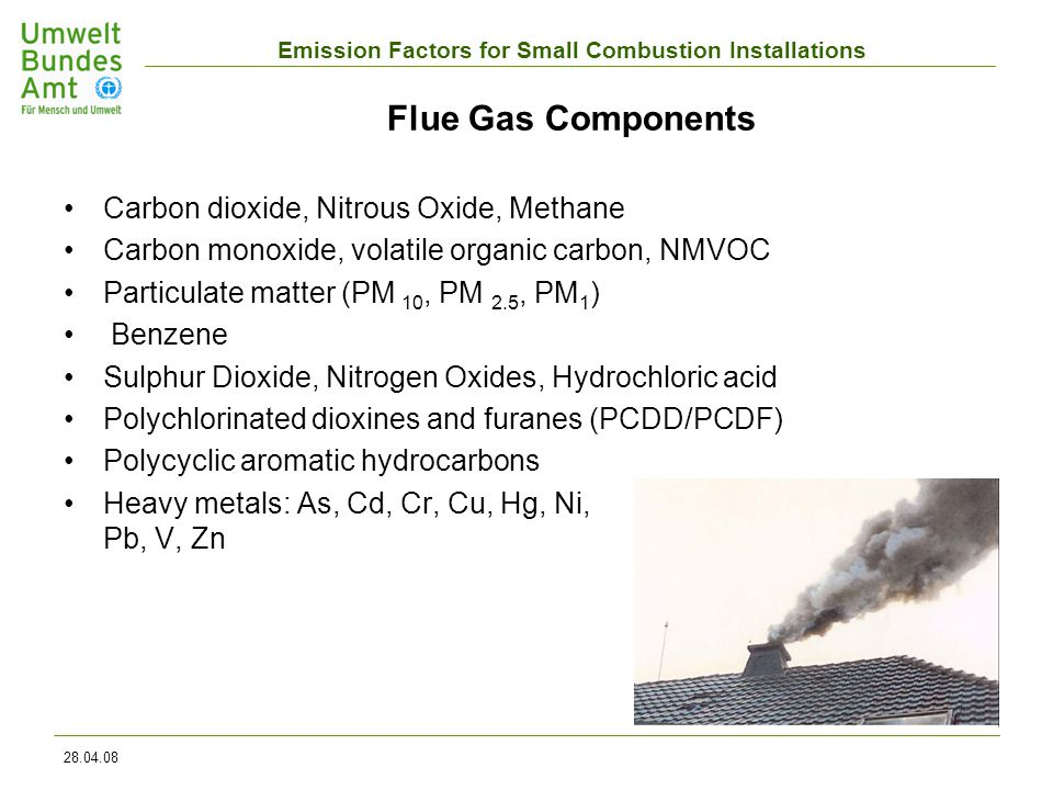 Emission Factors for Small Combustion Installations 28.04.08 WoM-Scenario