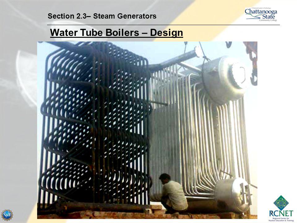 9 Section 2.3– Steam Generators Water Tube Boilers – Design
