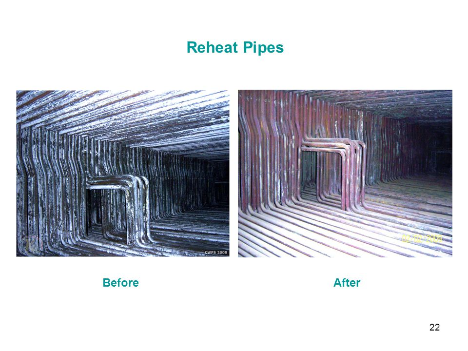 22 Reheat Pipes BeforeAfter