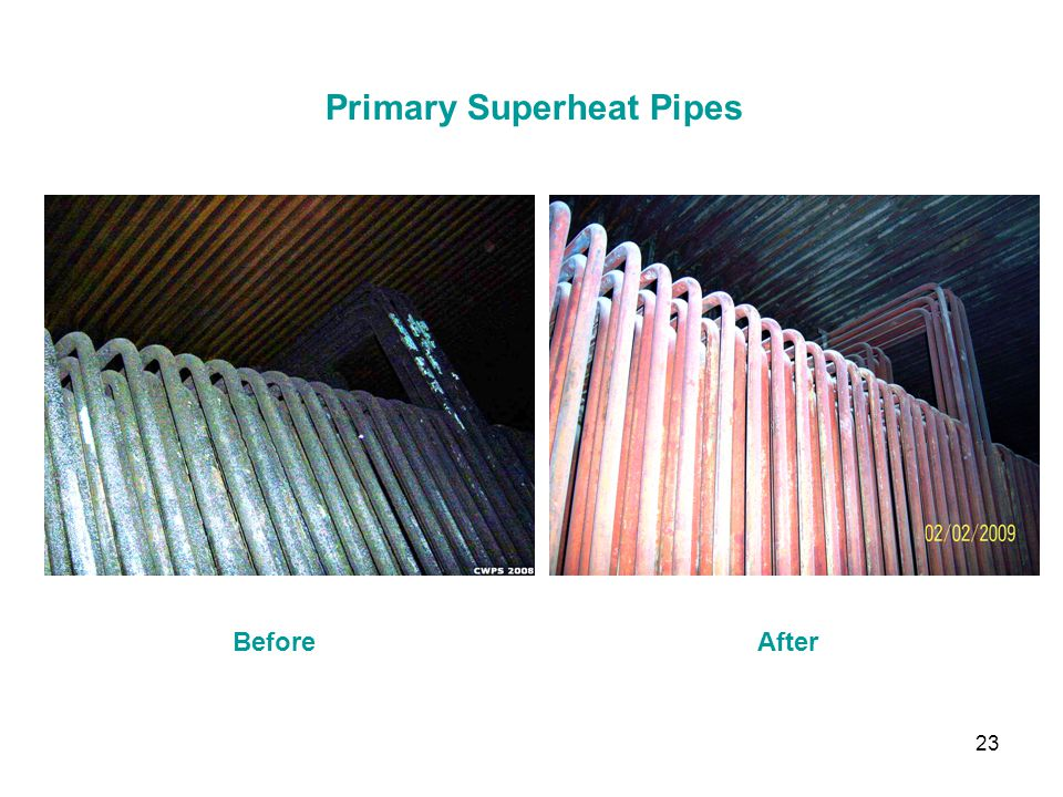 23 Primary Superheat Pipes BeforeAfter