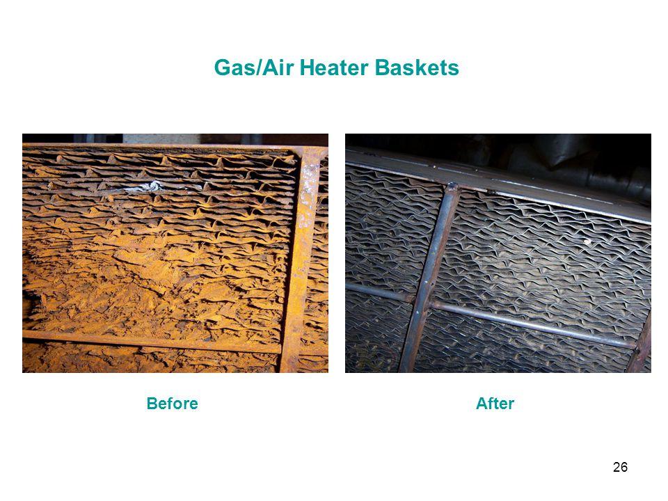 26 Gas/Air Heater Baskets BeforeAfter