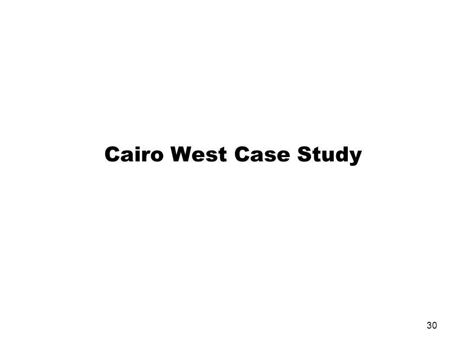 30 Cairo West Case Study