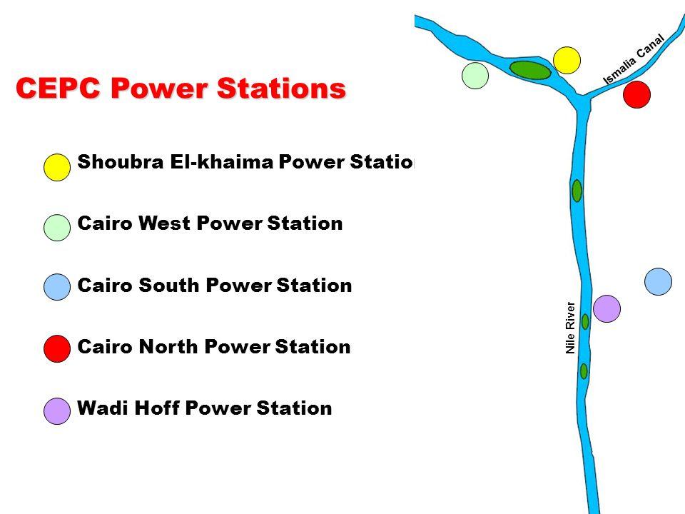 6 Shoubra El-khaima Power Station Cairo West Power Station Cairo South Power Station Cairo North Power Station Wadi Hoff Power Station CEPC Power Stat