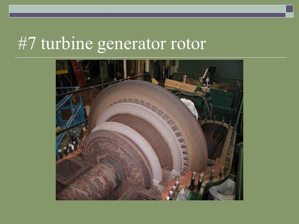 #7 turbine generator rotor