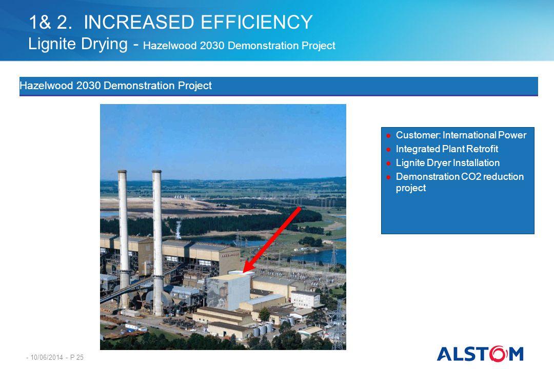 - 10/06/2014 - P 25 Hazelwood 2030 Demonstration Project Customer: International Power Integrated Plant Retrofit Lignite Dryer Installation Demonstrat