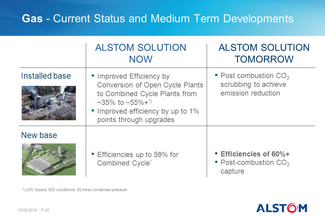 - 10/06/2014 - P 40 Gas - Current Status and Medium Term Developments Improved Efficiency by Conversion of Open Cycle Plants to Combined Cycle Plants