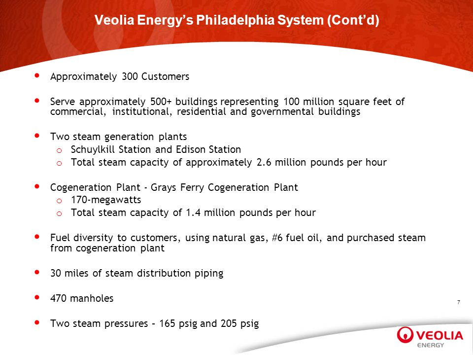 Questions? Veolia Energy North America