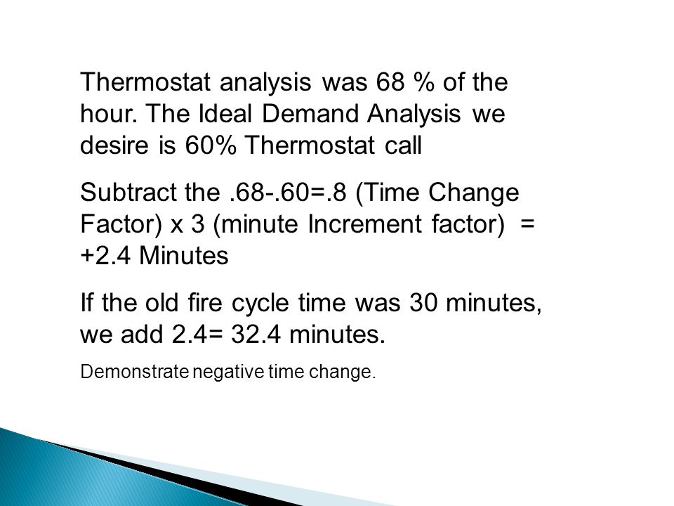 Limits of maximum and minimum burner fire times.