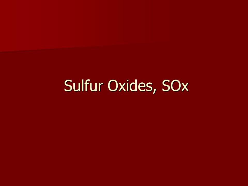 Sulfur Oxides, SOx