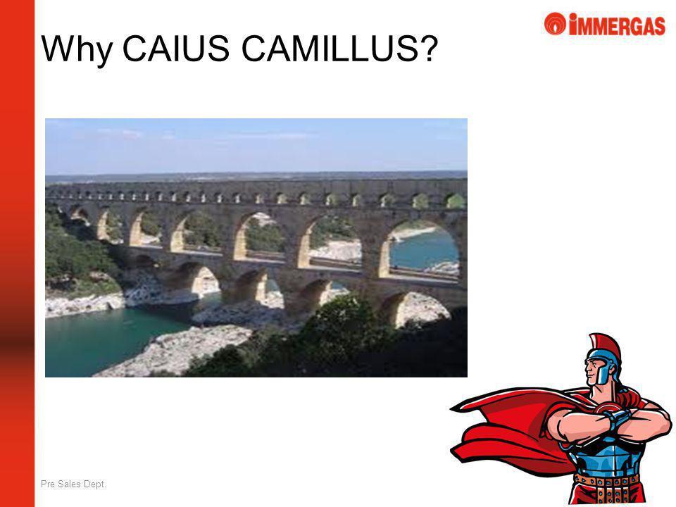 Pre Sales Dept. Why CAIUS CAMILLUS?