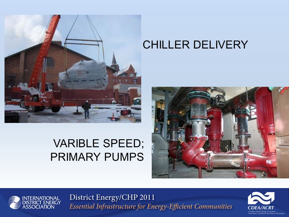 CHILLER DELIVERY VARIBLE SPEED; PRIMARY PUMPS