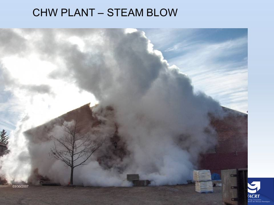 CHW PLANT – STEAM BLOW