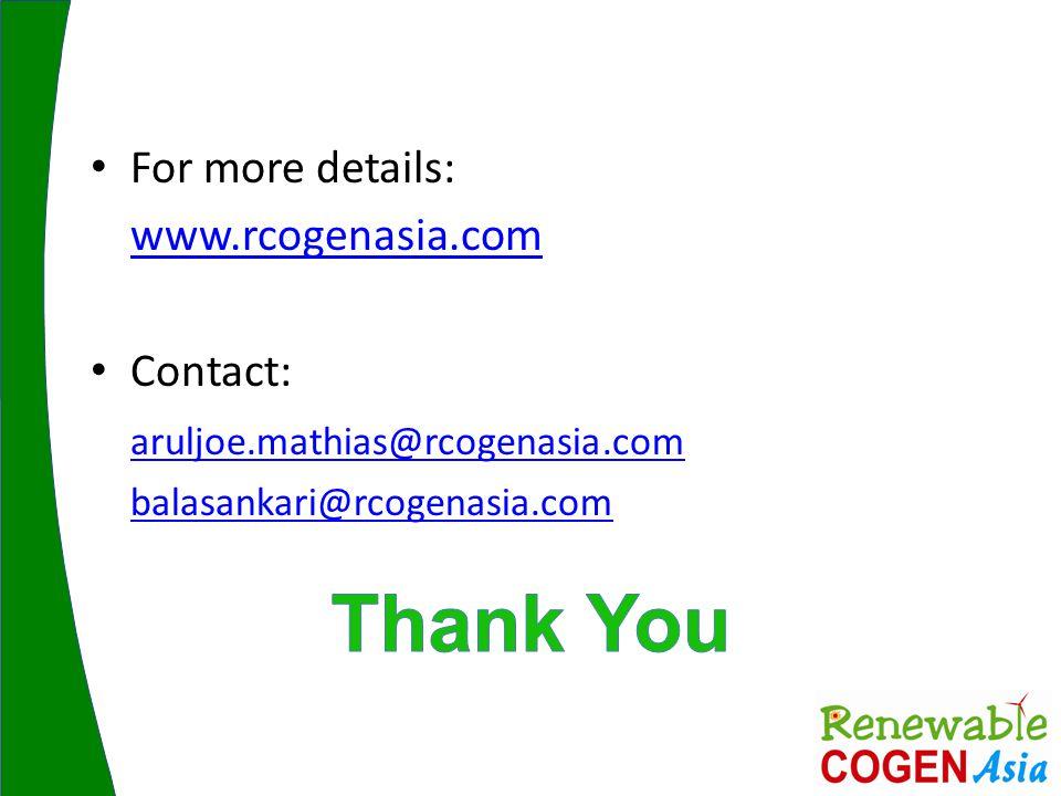 For more details: www.rcogenasia.com Contact: aruljoe.mathias@rcogenasia.com balasankari@rcogenasia.com