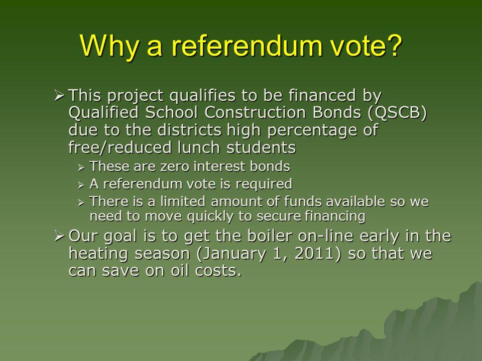 Why a referendum vote.