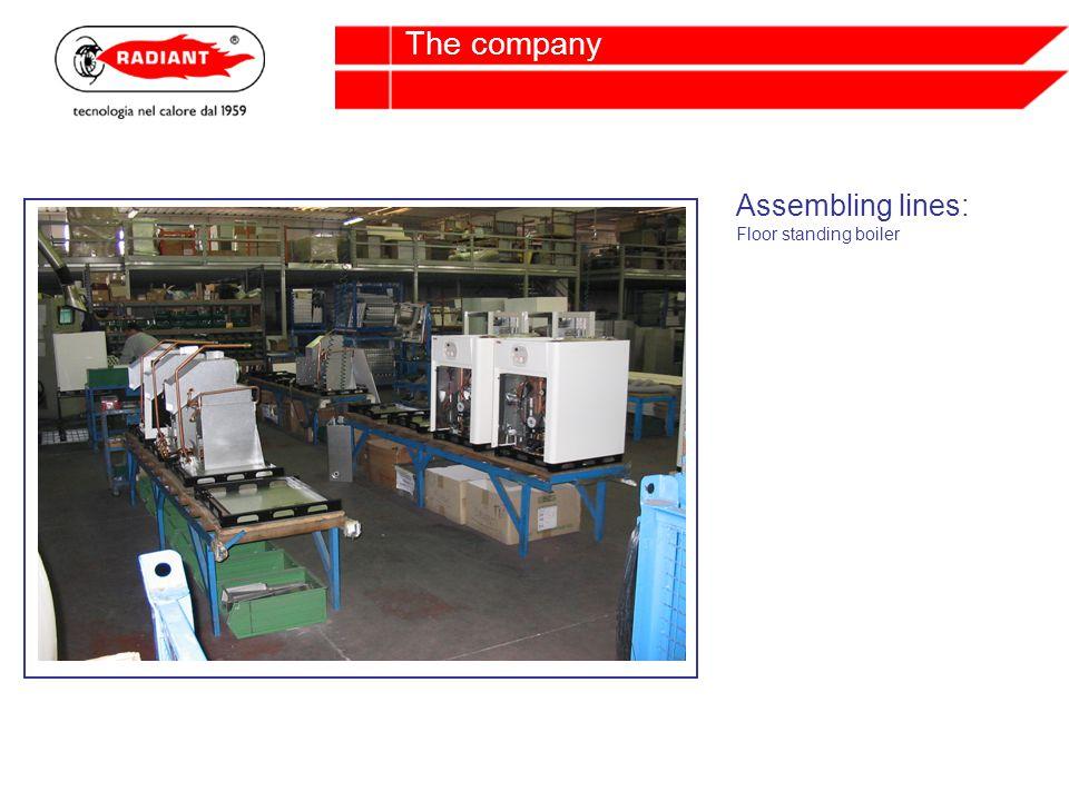Assembling lines: Floor standing boiler