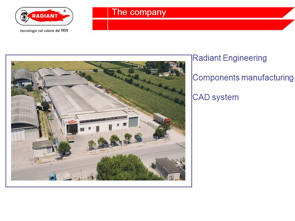 Radiant Engineering Components manufacturing CAD system