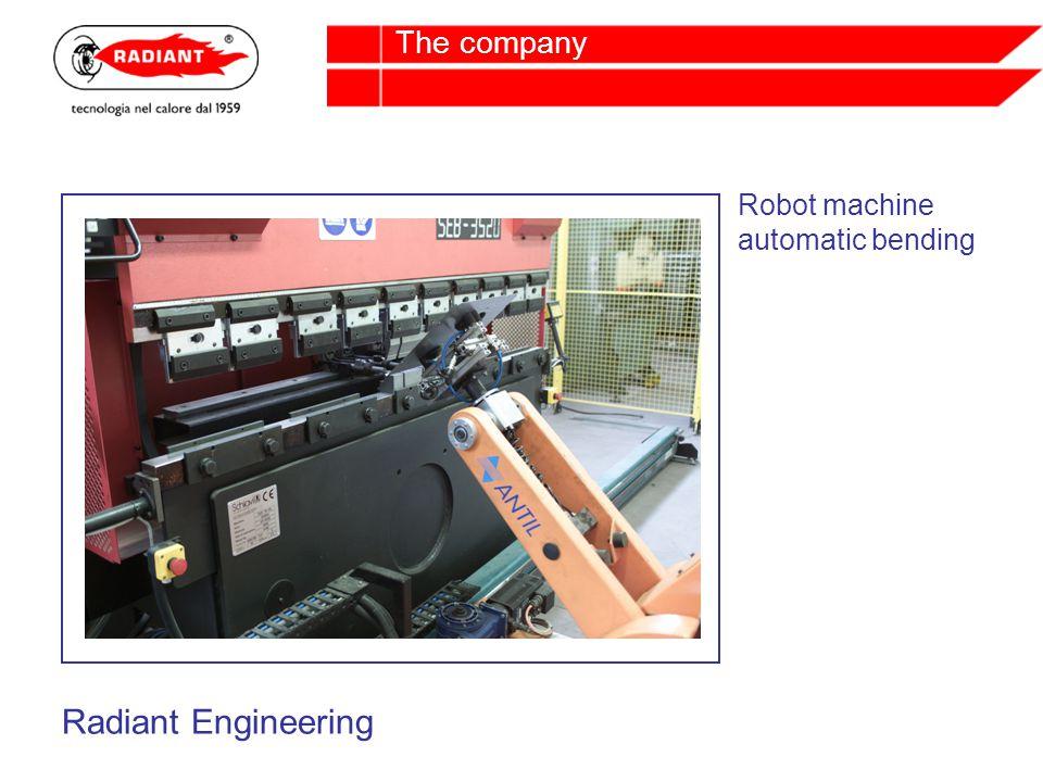 Robot machine automatic bending Radiant Engineering