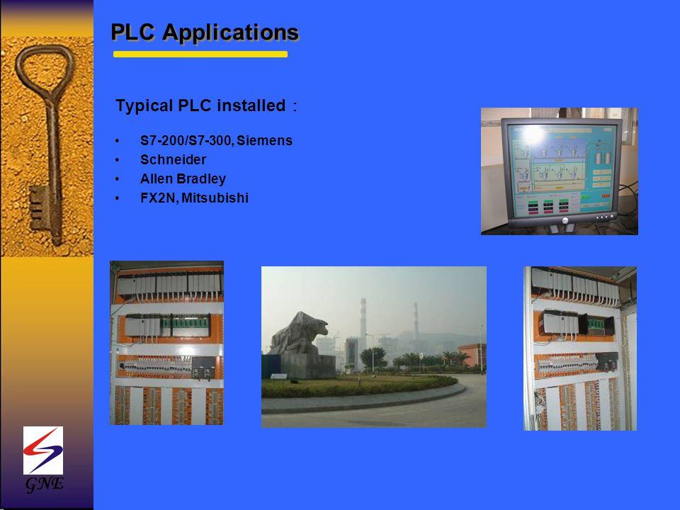 Typical PLC installed S7-200/S7-300, Siemens Schneider Allen Bradley FX2N, Mitsubishi GNE PLC Applications