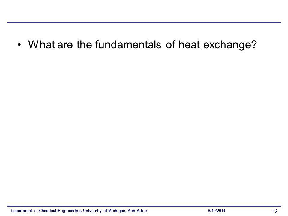What are the fundamentals of heat exchange.