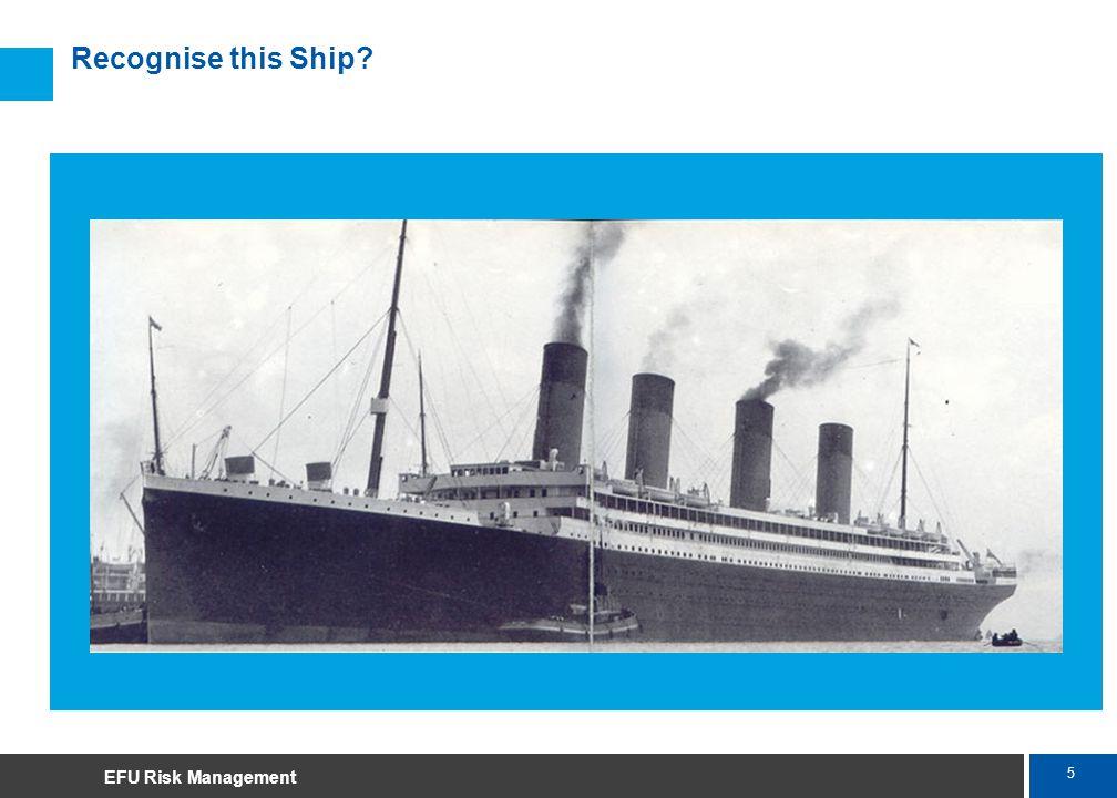 5 Marsh Recognise this Ship EFU Risk Management