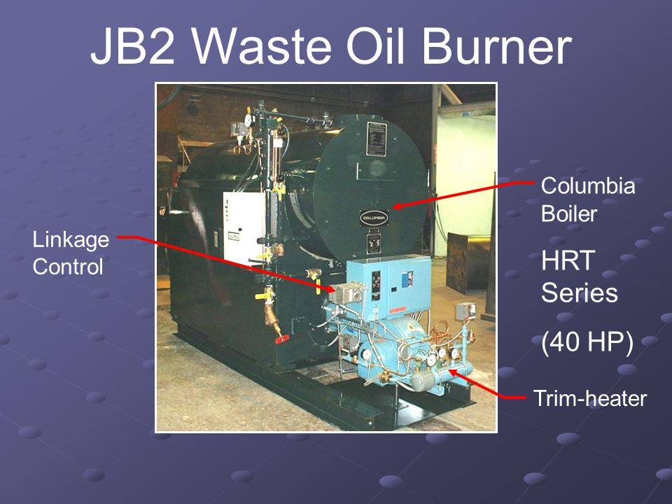JB2 Waste Oil Burner Trim-heater Linkage Control Columbia Boiler HRT Series (40 HP)