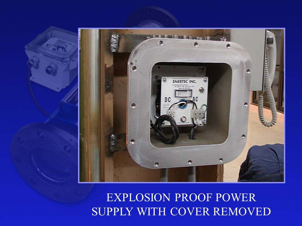EXPLOSION PROOF POWER SUPPLY WITH COVER REMOVED