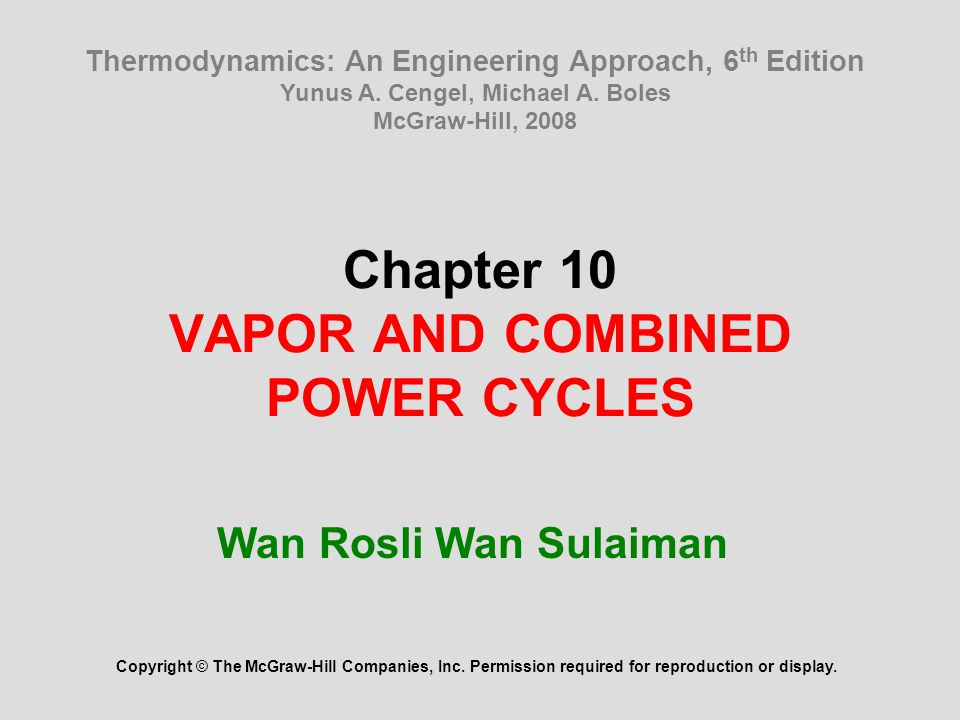 22 Summary The Carnot vapor cycle Rankine cycle: The ideal cycle for vapor power cycles Energy analysis of the ideal Rankine cycle Deviation of actual vapor power cycles from idealized ones How can we increase the efficiency of the Rankine cycle.