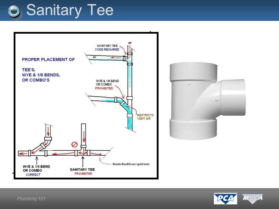 Plumbing 101 Sanitary Tee