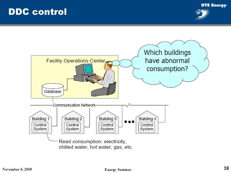 DDC control November 6, 2009 Energy Seminar 38