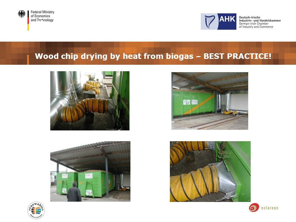 ÖNorm M 7133 Wood chip drying by heat from biogas – BEST PRACTICE!