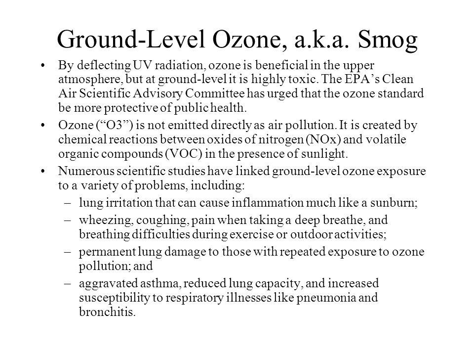 Ground-Level Ozone, a.k.a.