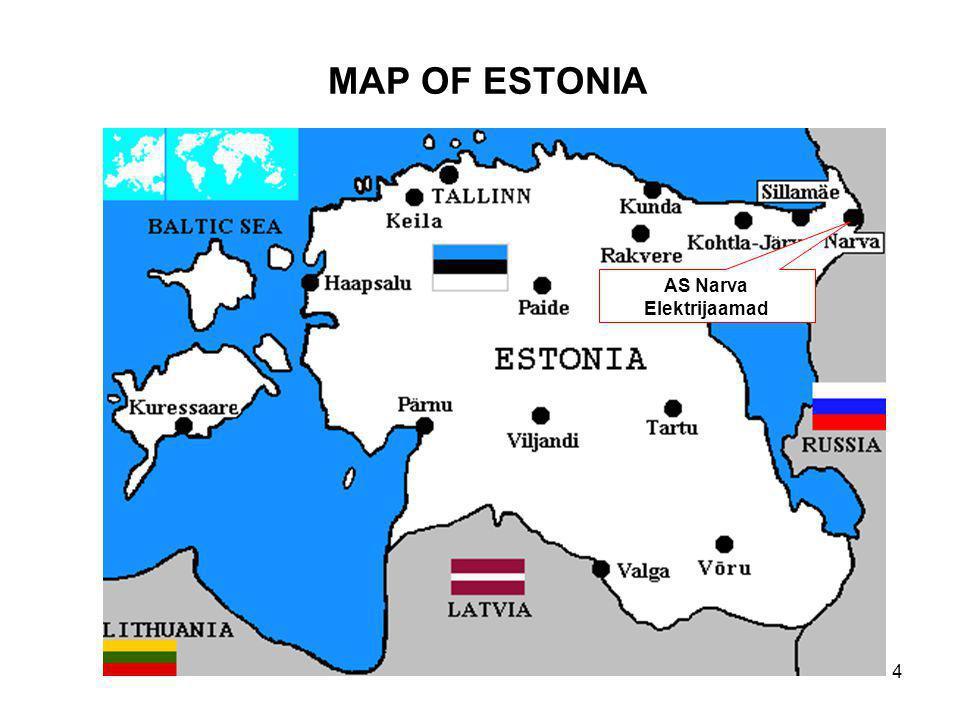 4 MAP OF ESTONIA AS Narva Elektrijaamad
