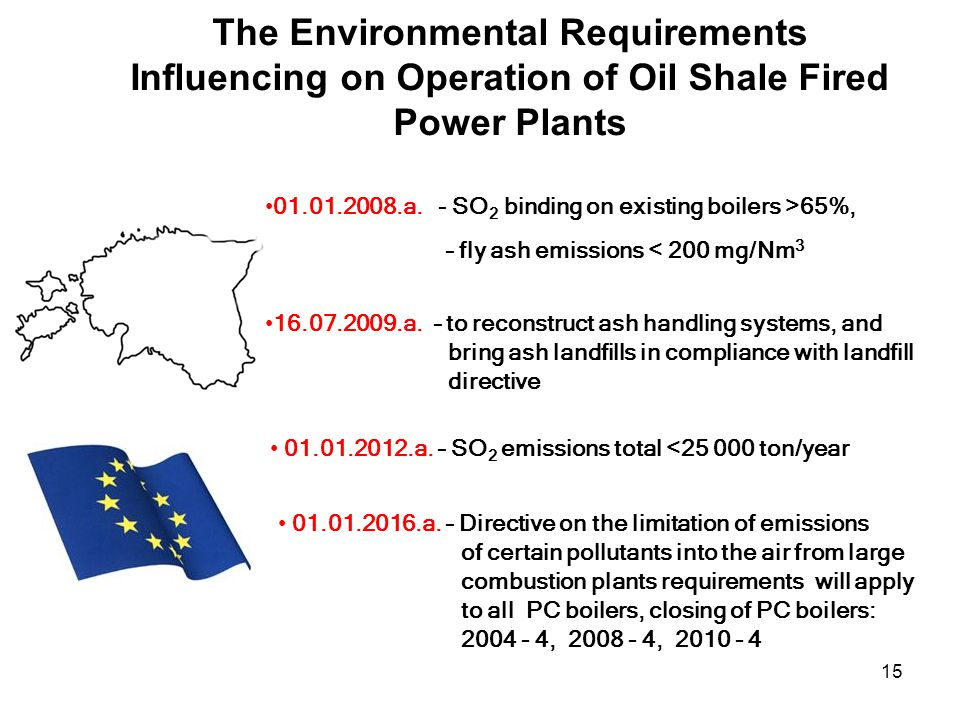 15 The Environmental Requirements Influencing on Operation of Oil Shale Fired Power Plants 01.01.2008.a.