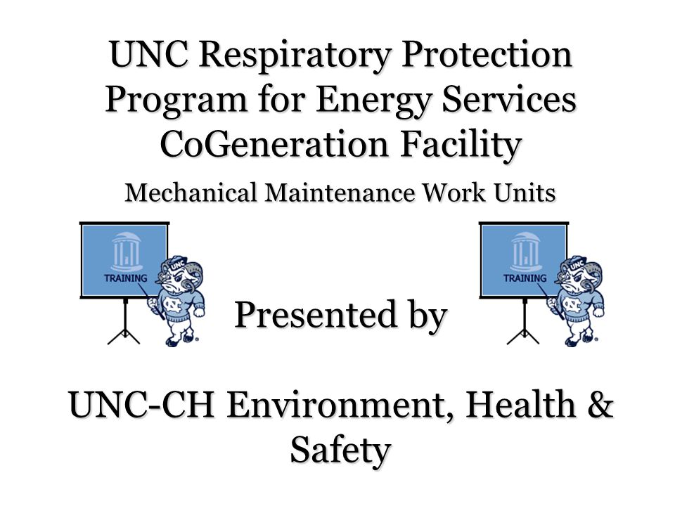 Respirator Fit-Testing Procedures Employees at UNC-CH are required to receive a quantitative fit test with the respirator that they will be using.