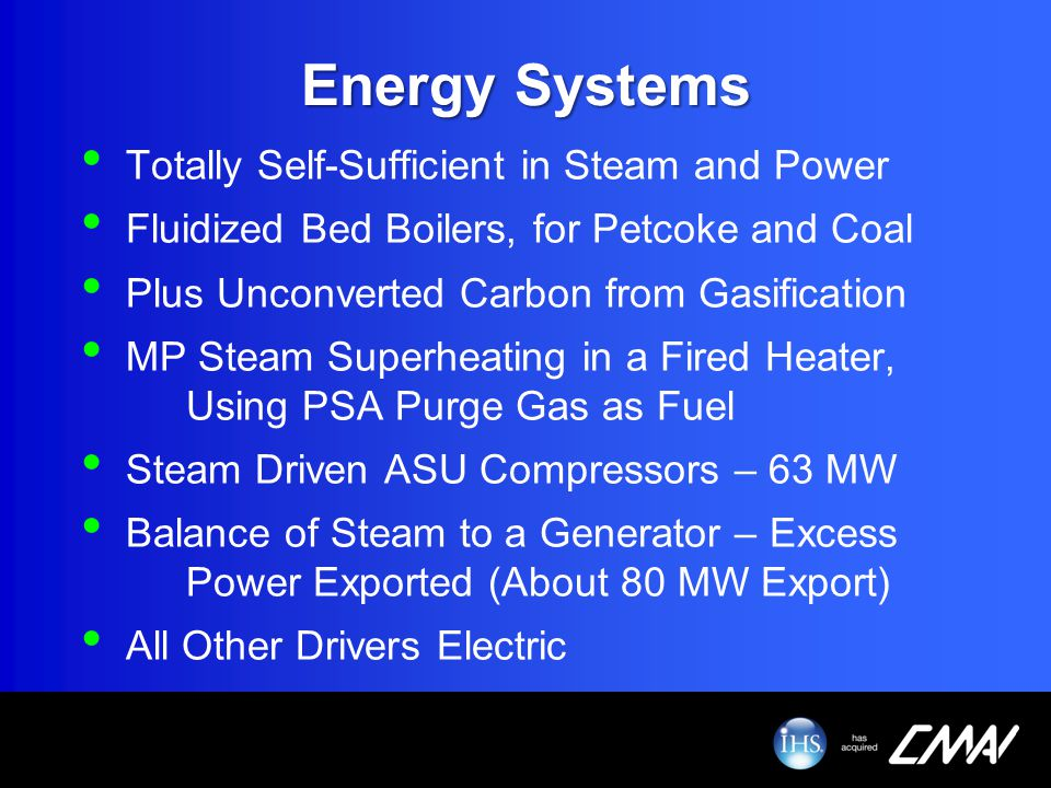 Energy Systems Totally Self-Sufficient in Steam and Power Fluidized Bed Boilers, for Petcoke and Coal Plus Unconverted Carbon from Gasification MP Ste