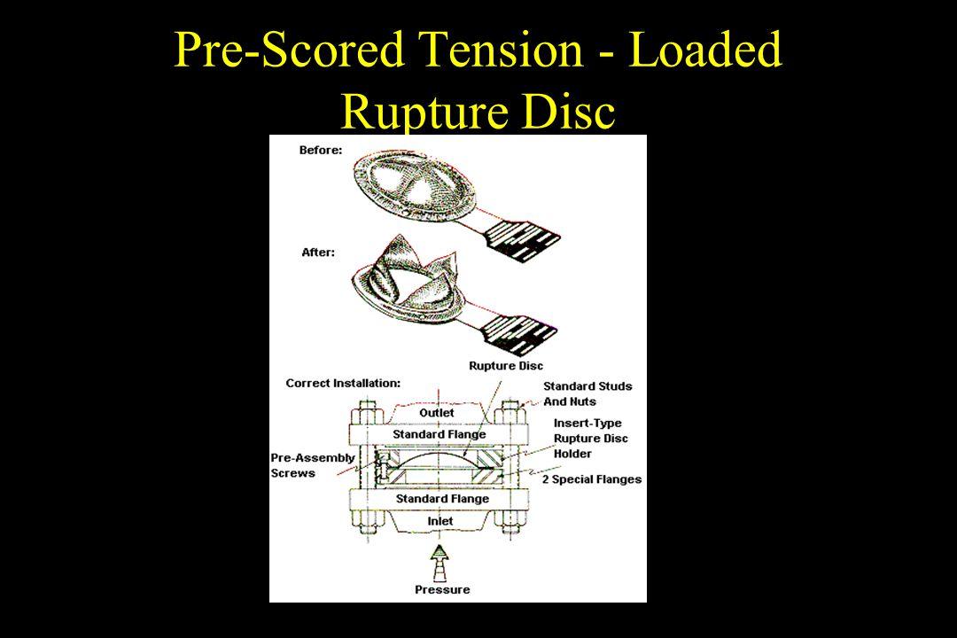 Pre-Scored Tension - Loaded Rupture Disc