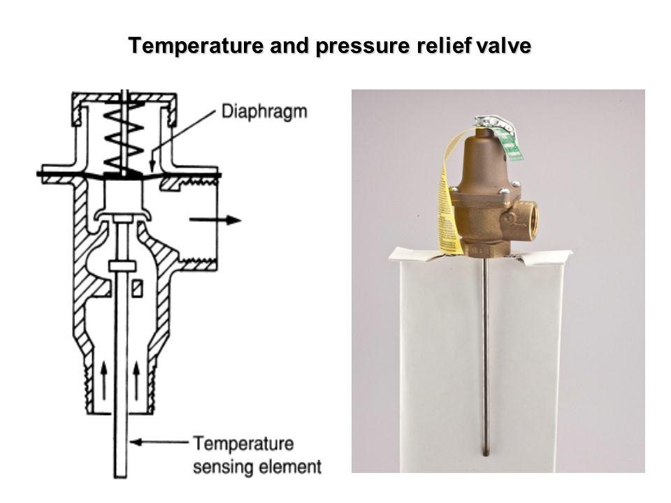 Temperature and pressure relief valve