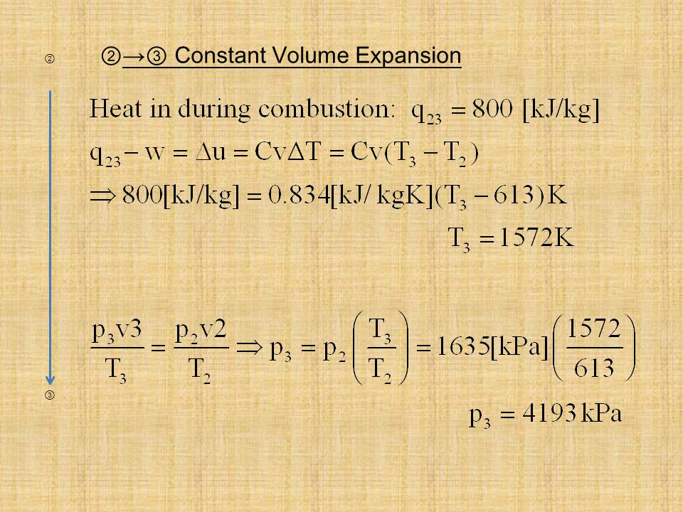Constant Volume Expansion