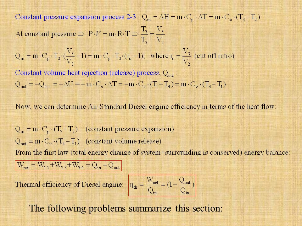 The following problems summarize this section: