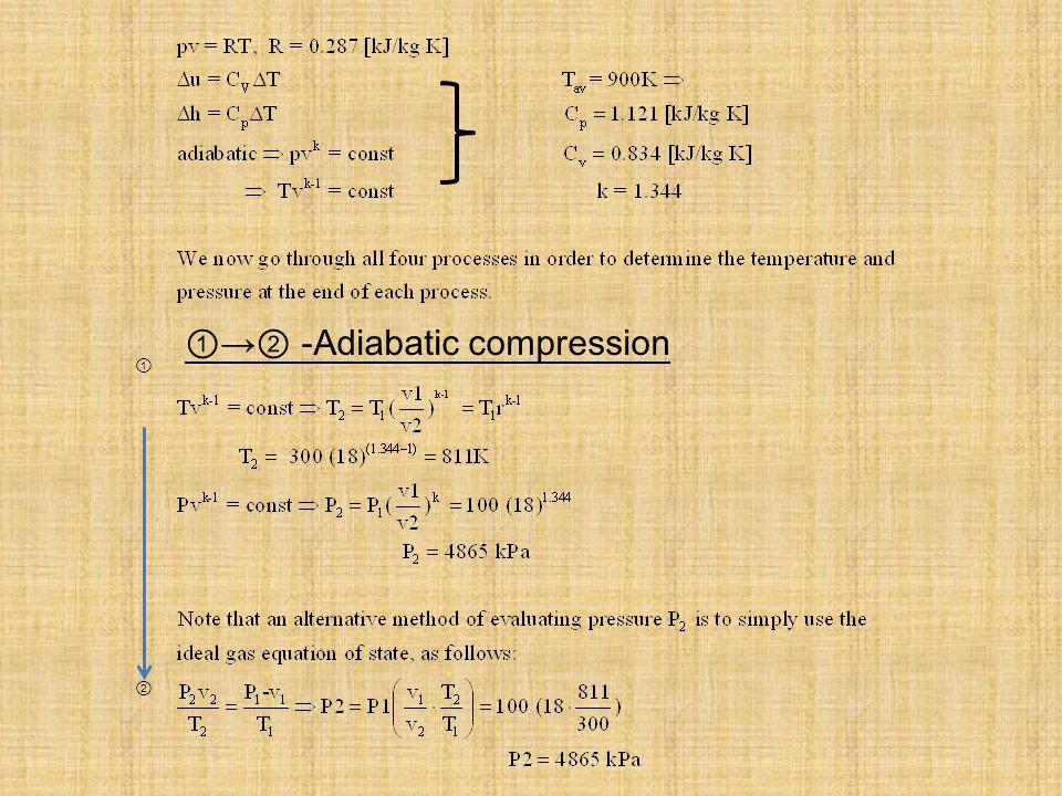 Constant Pressure Expansion - Adiabatic expansion